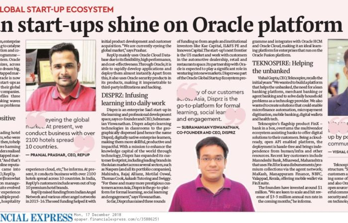 Indian Start-Ups Shine on Oracle Platform