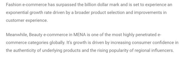 Ecommerce Market and Size growth in MENA
